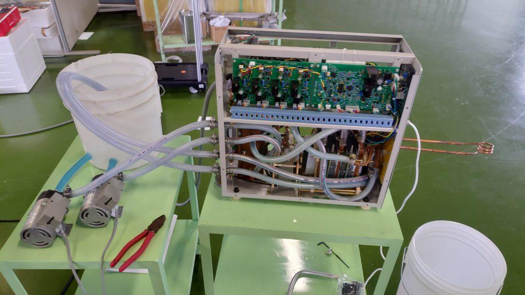高周波加熱テスト 16.5KVA