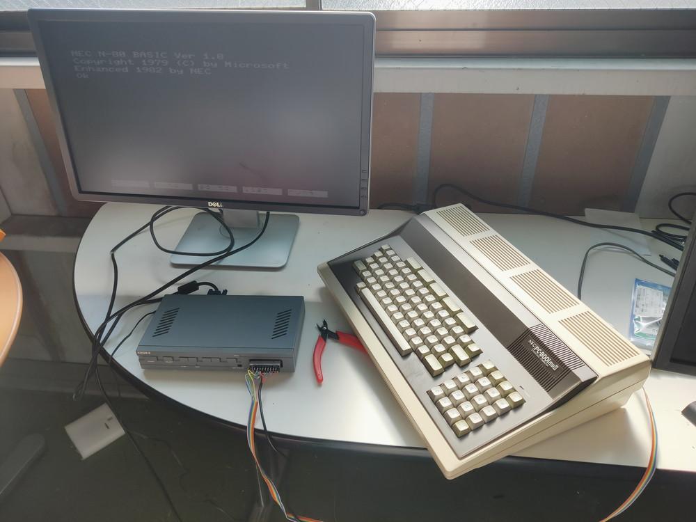 PC8001,FM-7,MZ-700を液晶ディスプレイに表示する!!