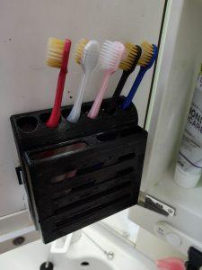 3Dプリンタで歯ブラシ立てを出力する